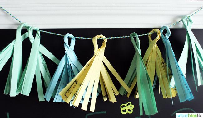 DIY Recycled Paper Tassel Garland