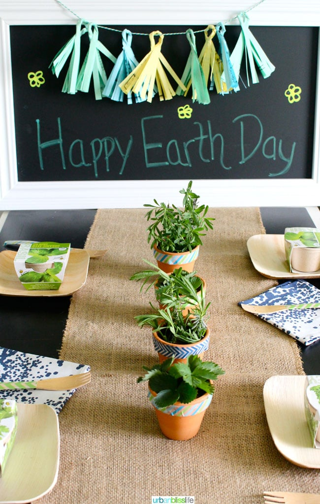 Earth Day Party Ideas: DIY Recycled Paper Tassel Garland