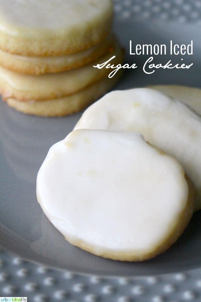 Lemon Iced Sugar Cookies by Urban Bliss Life