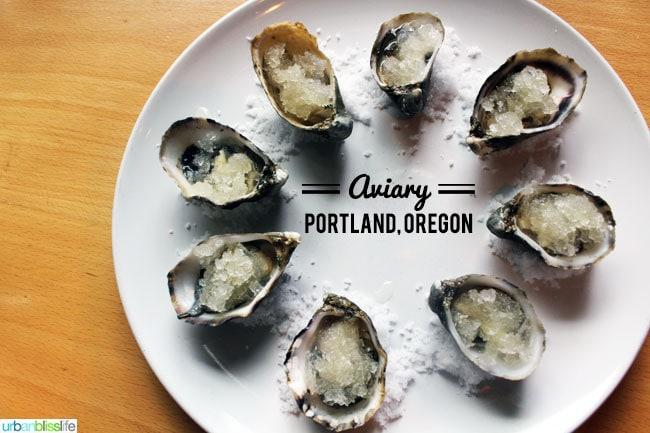 Aviary restaurant oysters