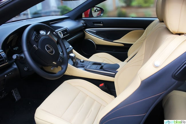 Lexus RC 350 F Sport interior