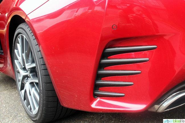 Lexus RC 350 F Sport in red