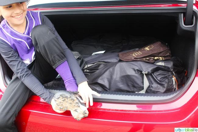 Lexus RC 350 F Sport trunk space