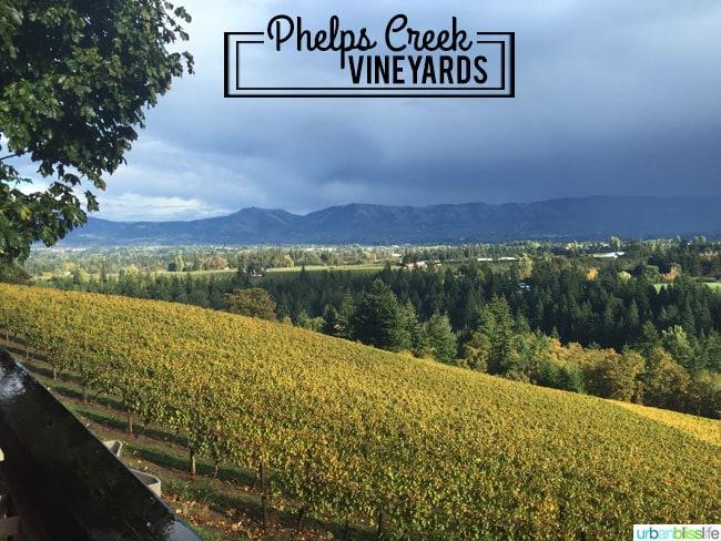 Oregon wine country: Phelps Creek Vineyards