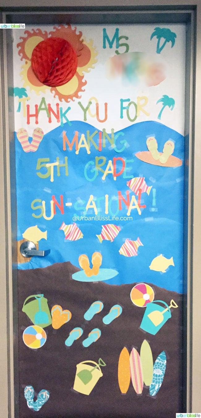 Teacher-Door-Decoration COPYRIGHT ©UrbanBliss, LLC