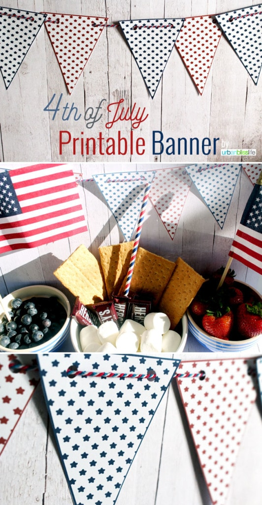 Free Fourth of July Banner Printable