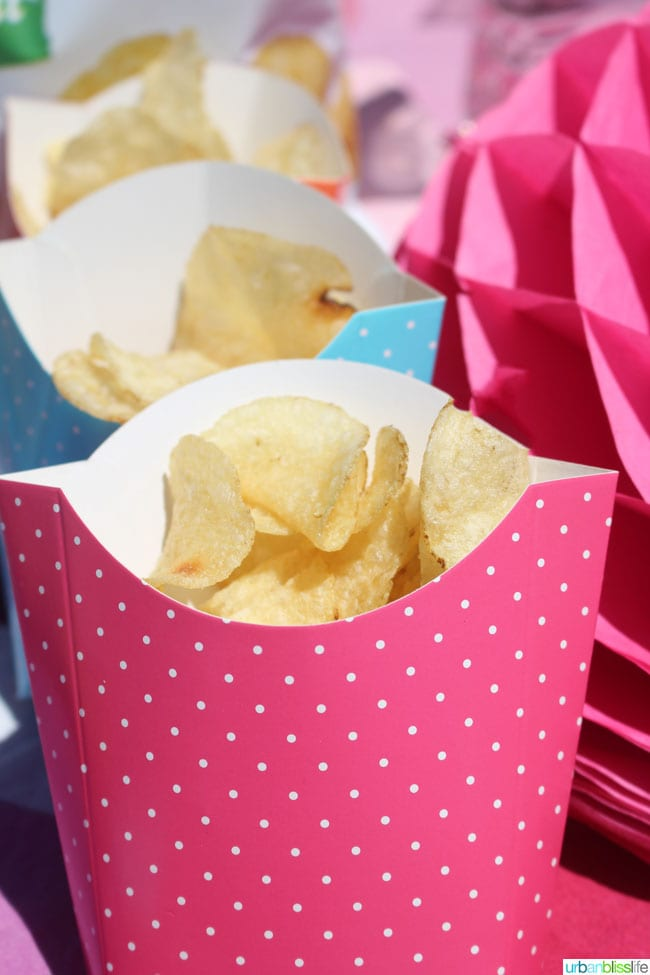 5 Fun Easy Summer Picnic Ideas: chips in containers