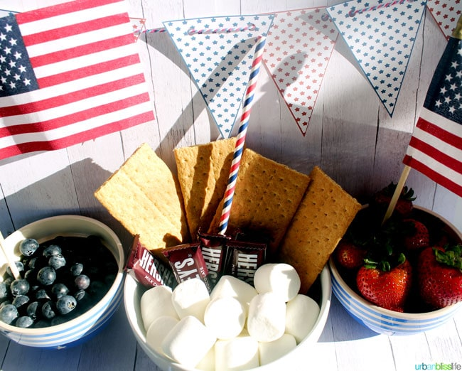 4th of July s'mores on UrbanBlissLife.com