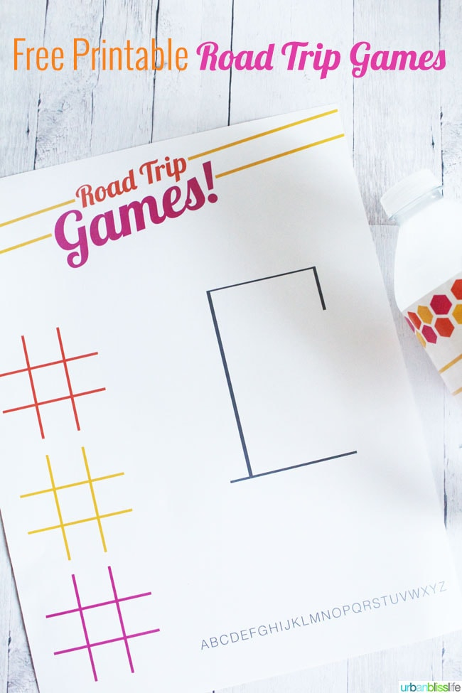 photograph about Hangman Printable named Free of charge Summer months Printables: Street Holiday vacation Game titles and Drinking water Bottle