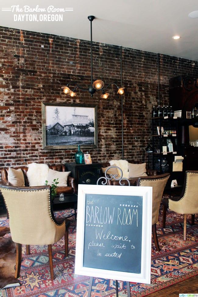 The Barlow Room restaurant, Dayton, Oregon