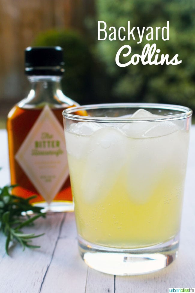summer gin cocktail: backyard collins
