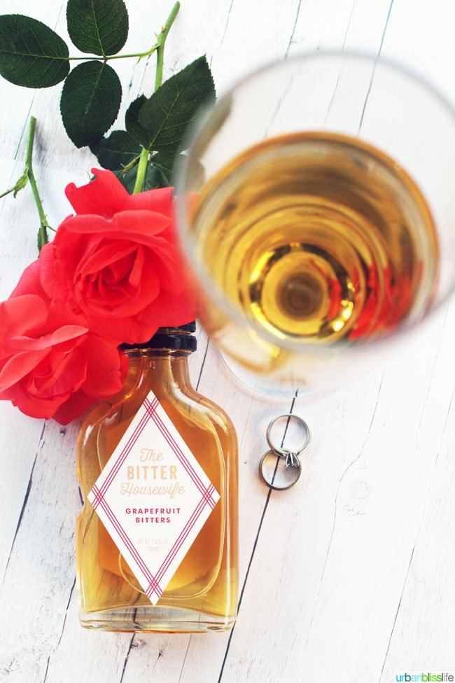 lillet blanc cocktail with bitters