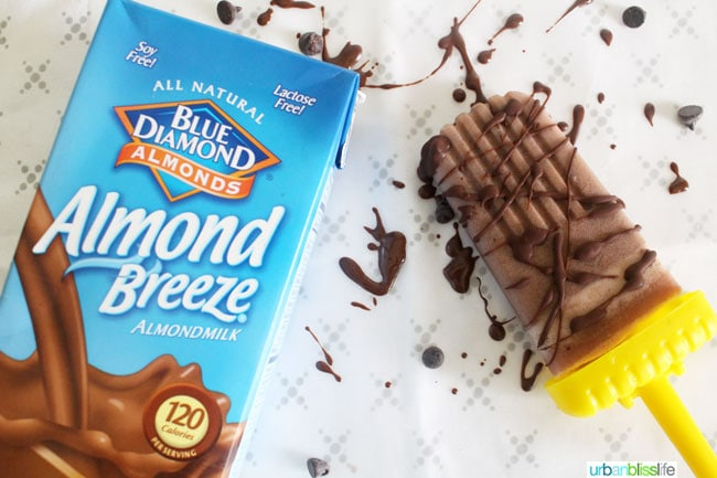 Almond Milk Chocolate Peanut Butter Ice Pops recipe on UrbanBlissLife.com