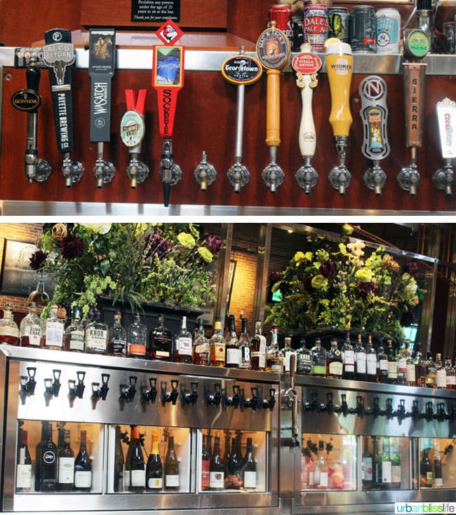 Bardenay Restaurant in Boise, Idaho beer taps