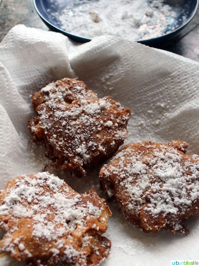 Apple Fritter Recipe with Caramel Apple Dipping Sauce on UrbanBlissLife.com