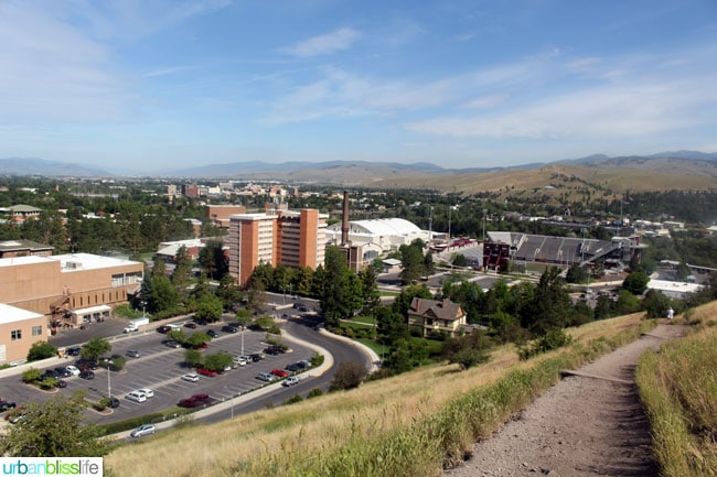 Family-Friendly Activities in Missoula, Montana: Hike the M Trail, on UrbanBlissLife.com