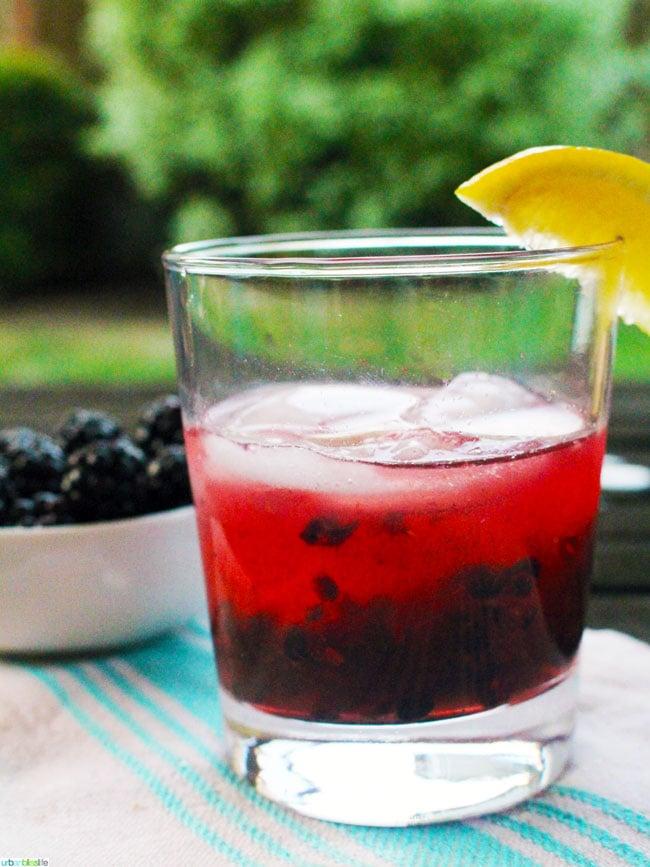 Marionberry Cider Crush cocktail recipe on UrbanBlissLife.com