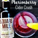 Oregon Marionberry Cider Crush cocktail recipe on UrbanBlissLife.com