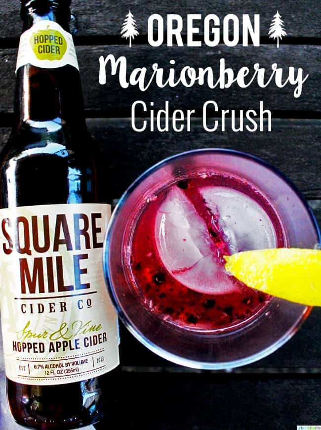 Mixology Monday, My Ode to Oregon: the Oregon Marionberry Cider Crush