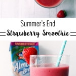 Summer's End Strawberry Smoothie (Dairy Free) on UrbanBlissLife.com