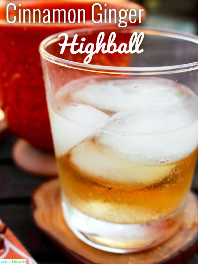 Ginger Highball with cinnamon liqueur