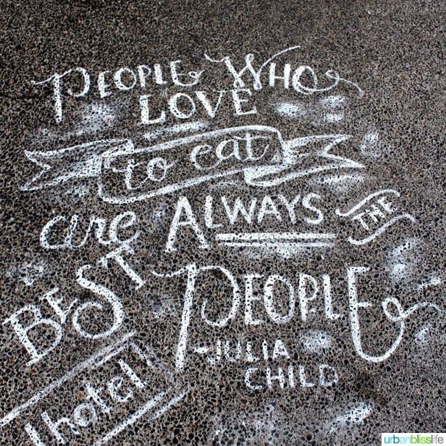 Feast Portland 2015 Chalk Art on UrbanBlissLife.com