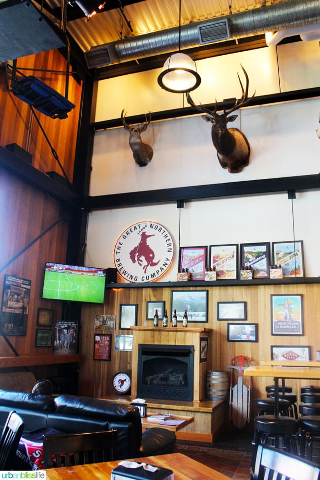 Where to Eat & Drink in Whitefish, MT: Great Northern Brewing Co., on UrbanBlissLife.com