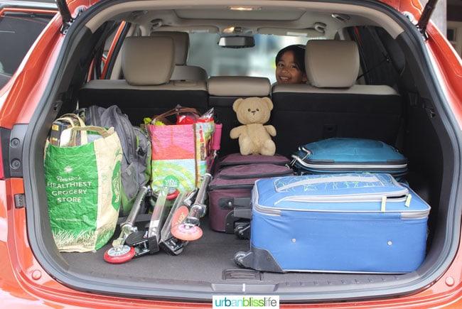 Hyundai santa fe sport cargo room