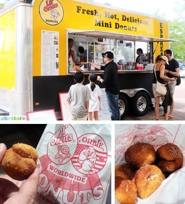 donut food truck at Caras Park in Missoula