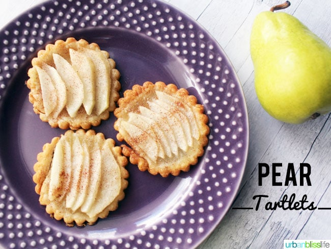 Pear Tartlets recipe & Giveaway on UrbanBlissLife.com