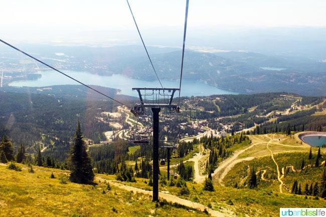 Whitefish Mountain Resort Summer Activities: lift rides