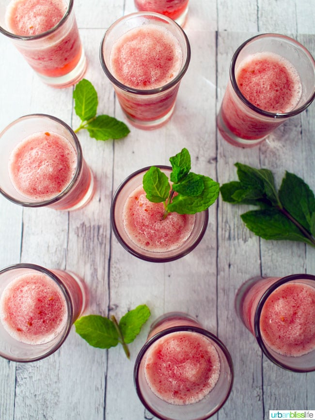 Smoothie Shots in glasses