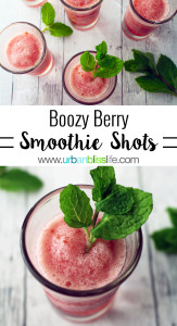 Boozy Berry Smoothie Shots recipe on UrbanBlissLife.com