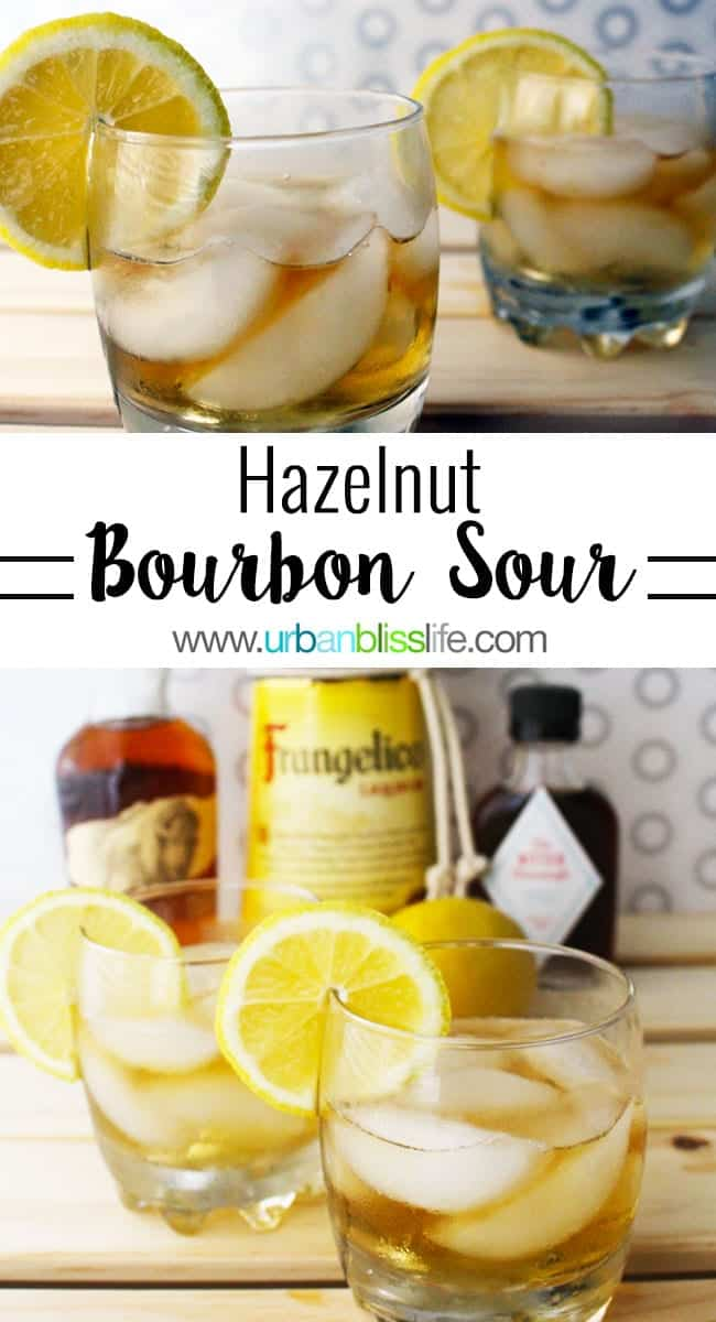 Hazelnut Bourbon Sour cocktail recipe on UrbanBlissLife.com
