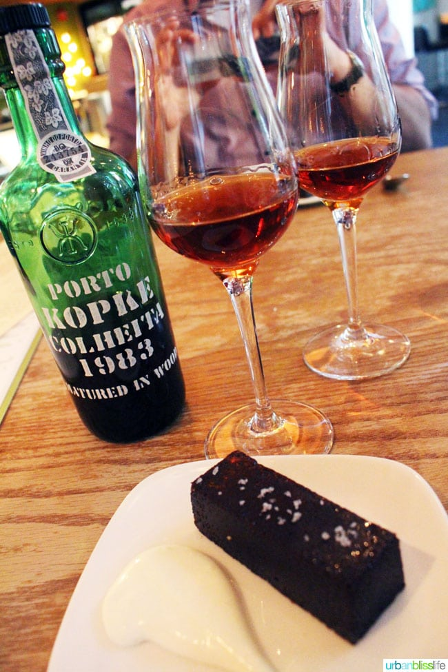 port wine and dessert