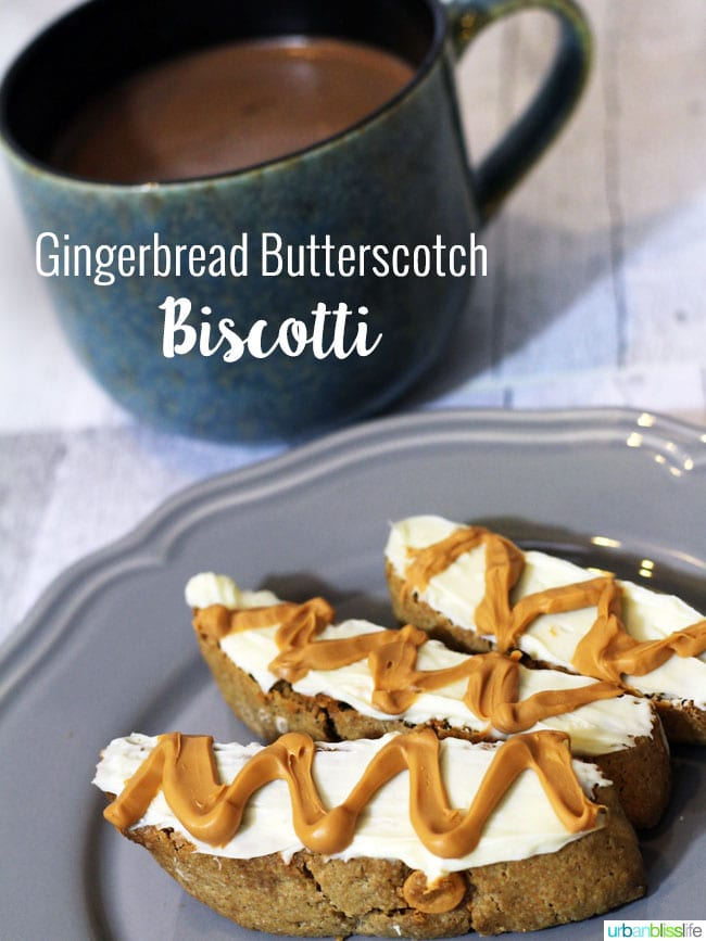 Easy Biscotti Recipe: Gingerbread Butterscotch Biscotti on UrbanBlissLife.com