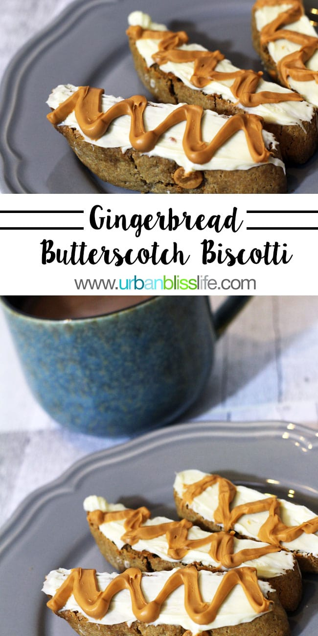 Gingerbread Butterscotch Biscotti recipe on UrbanBlissLife.com