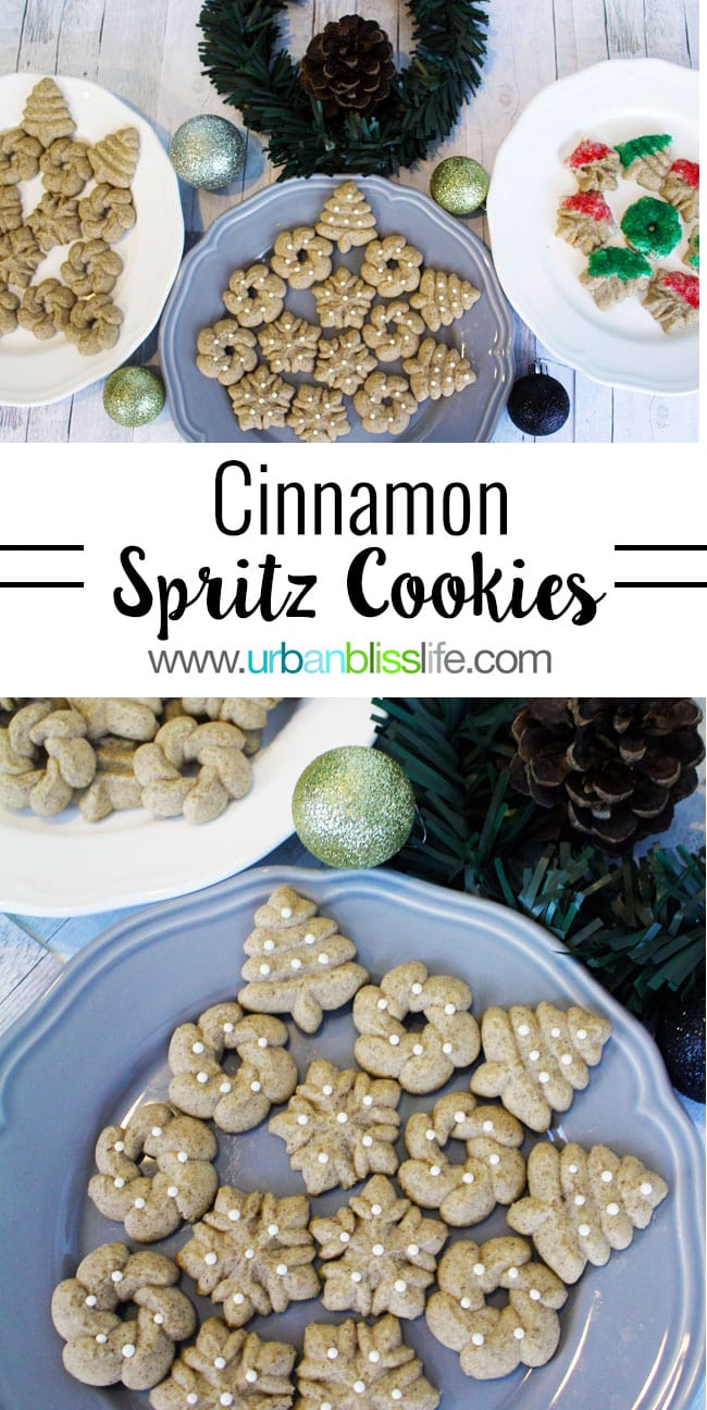 Cinnamon Spritz Cookies recipe on UrbanBlissLife.com