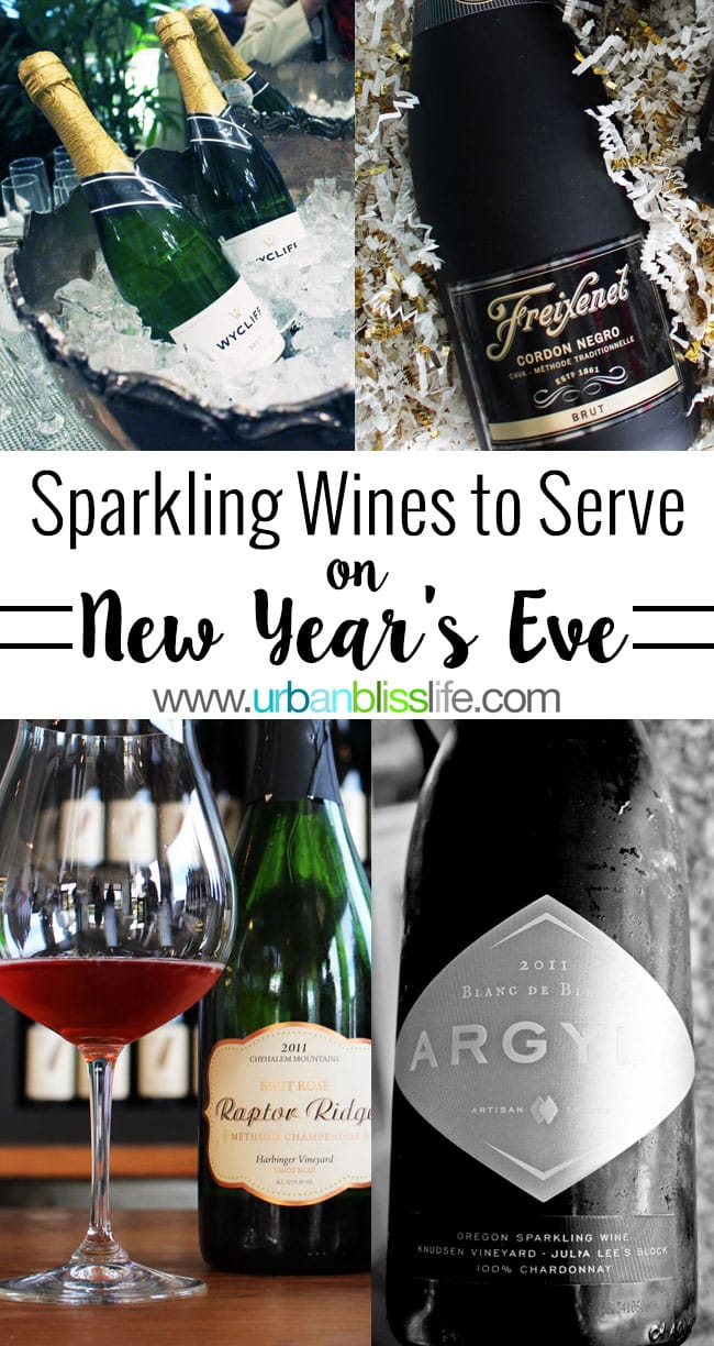Sparkling Wines to Serve on New Year's Eve | UrbanBlissLife.com