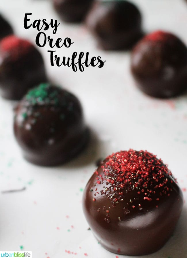 Oreo Truffles recipe on UrbanBlissLife.com