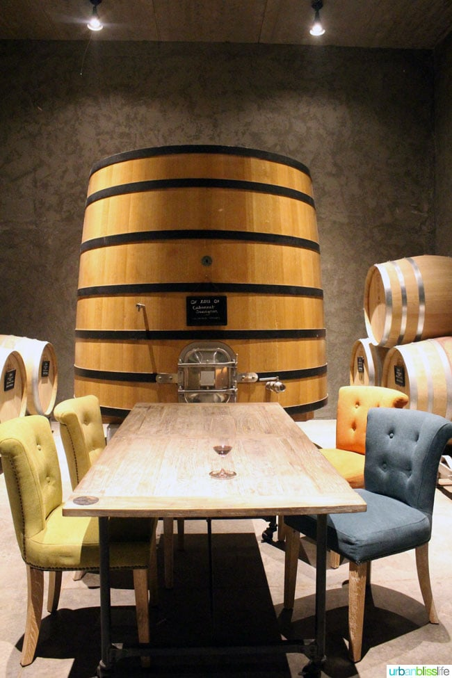 large wine barrel