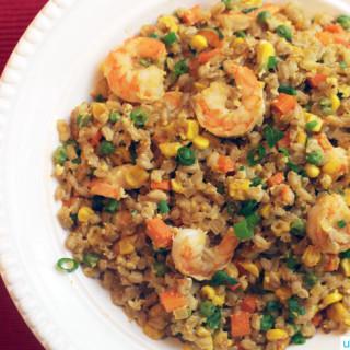 Farro Fried Rice Lunar New Year recipe on UrbanBlissLife.com