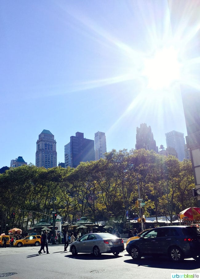 5 hours in NYC: Bryant Park