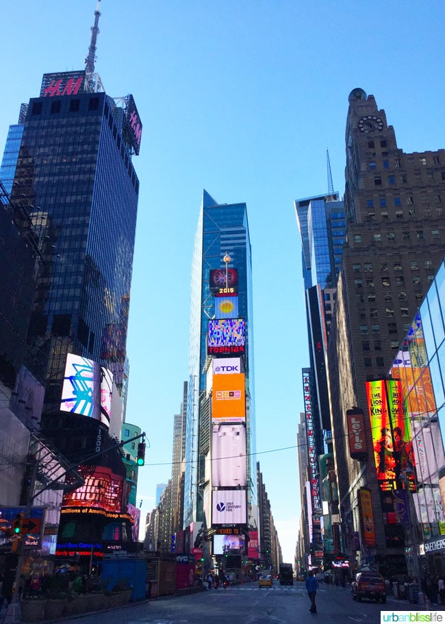 What to do in NYC for a Day: Times Square