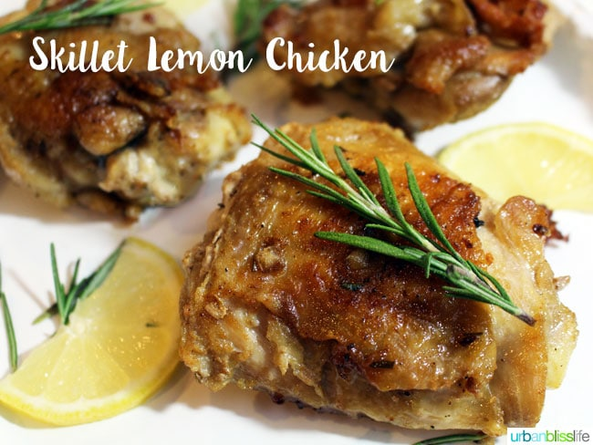 Skillet Lemon Chicken with rosemary
