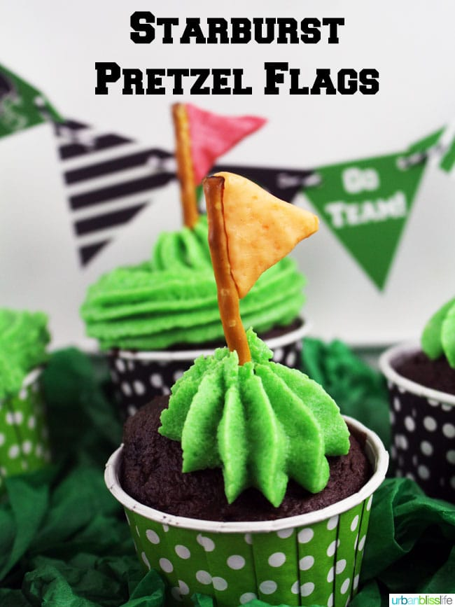 Starburst Pretzel Flag Game Day idea on UrbanBlissLife.com