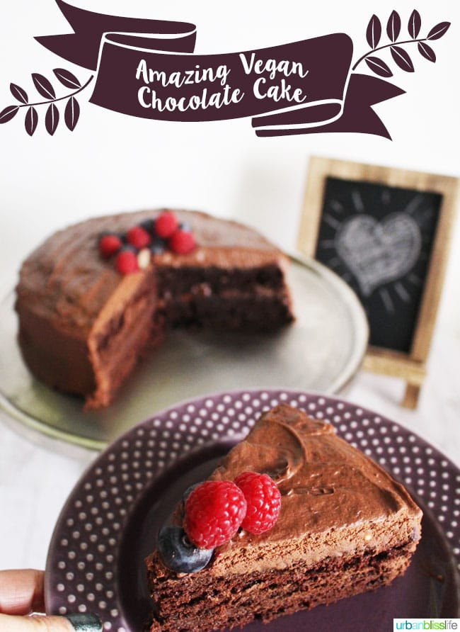 Amazing Vegan Chocolate Cake with the Best Chocolate Frosting