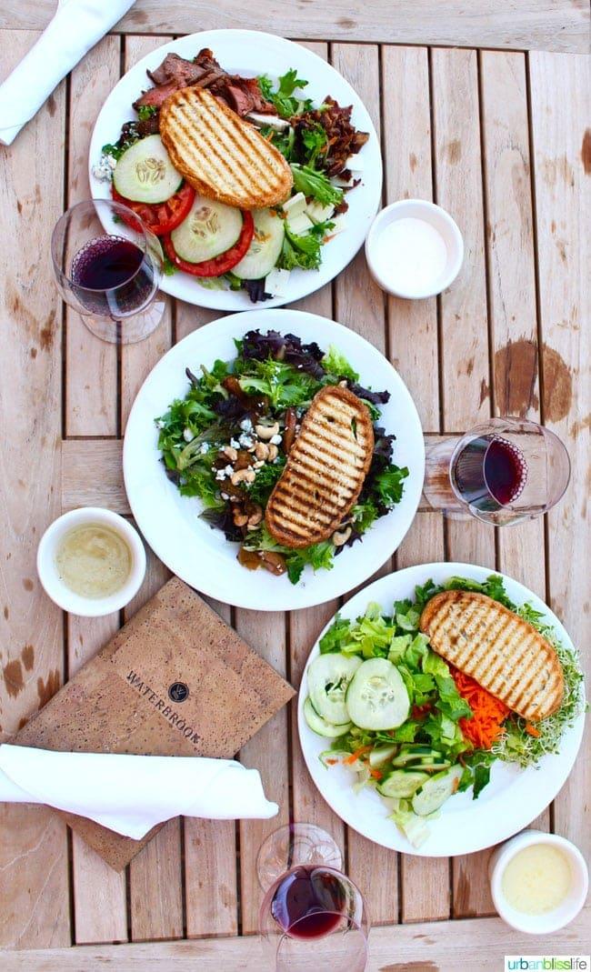 Waterbrook Winery salads