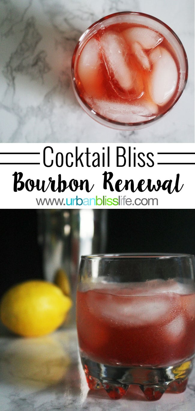Bourbon Renewal cocktail recipe on UrbanBlissLife.com