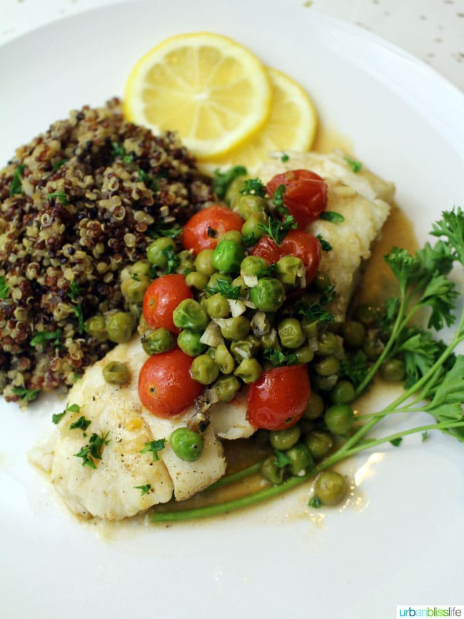 Simple halibut recipe on UrbanBlissLife.com